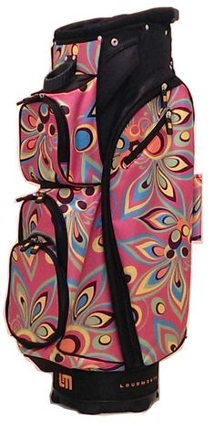 Prepare yourself for a golf bag with the best and brightest in Loudmouth patterns. Presenting the Pink Shag Loudmouth Ladies Cart Golf Bag with an extremely modern look that will set you apart from the everyday golfer! #accessories #lorisgolfshoppe