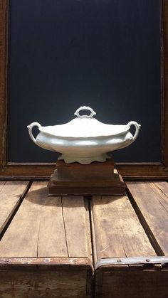 Vintage Johnson Brothers Ironstone Tureen, Ornate English Serving Bowl With Lid by ElisabethMacBeth on Etsy