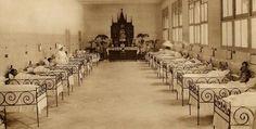 Barberà Masip. Principios s. XX Enfermería de niñas del Hospital General a principios del siglo XX.
