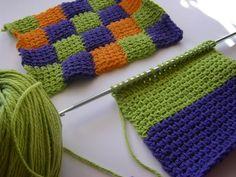 tunisian stitch potholder