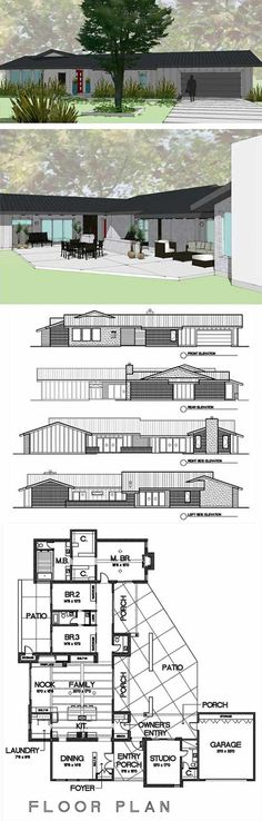8 Cliff May inspired ranch house plans from Houseplans.com - Retro Renovation