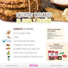 Nuestra propuesta de hoy son unas deliciosas GALLETAS DE AVENA FIT. Además de ser ricas y sanas, te aportarán proteínas, hidratos de carbono complejos y grasas saludables ¡para afrontar el día con la energía que necesitas! Encuentra la receta en nuestro blog: http://blog.nutritienda.com/galletas-integrales-de-avena-y-proteina/