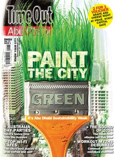 Paint the City Green! Its AbuDhabi Sustainability Week +  Australia Day Parties and Top Wi-fi Cafes