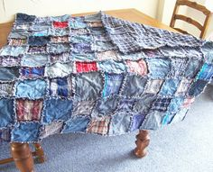 Denim rug could be used as a picnic rug, or I was thinking, the floor of a teepee.....