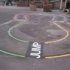 Getting children to play outside and keep fit does not need to be hard work. Inspire fitness through children's imagination with a range of playground markings that challenge and develop key skills at every opportunity. We can create bespoke playground markings or you can choose a selection of great, fun markings from our existing range.