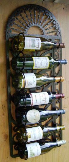 7 Bottle Wine Rack wall hanging