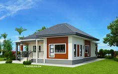Basic 3 Bedroom House Plans Luxury Miranda – Elevated 3 Bedroom with 2 Bathroom Modern House Single Storey House Plans, One Storey House, Modern Bungalow House Design, Simple House Design, Bungalow Designs, Three Bedroom House Plan, 3 Bedroom House, Bedroom Small, Two Story House Design