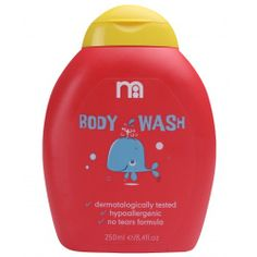 Mothercare Baby Body Wash is a Soap free formulation fragranced with fruity apple and melon, helping to leaves your toddler's skin soft and beautiful.