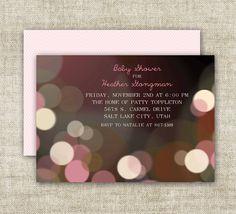 Bokeh GIRL BABY SHOWER