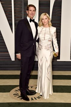 Prince Pavlos of Greece and Princess Marie-Chantal of Greece attend the 2015 Vanity Fair Oscar Party hosted by Graydon Carter at Wallis Annenberg Center for the Performing Arts on 22.02.2015 in Beverly Hills, California