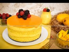 Mango Mousse Cake, Mango Mousse Cake recipe, how to make Mango Mousse Cake, Mango Mousse Cake video, Mango Cupcakes, Mango Mousse Cake, Mango Cake, Ramadan Special Recipes, Mini Pastries, Mango Recipes, Cake Youtube, Mouse Cake, Round Cake Pans