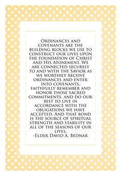 Come Follow Me - Why are ordinances important in my life