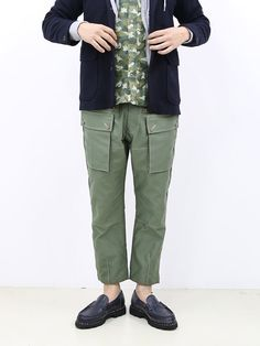 "Kaptain Sunshine ""Mt. Troop Breeches"" (Olive Cotton Satin) 商品詳細 THE SUPERIOR LABOR,A VONTADE,CURLY,NICHE,bukht通販サイト 広島県呉市のセレクトショップ"