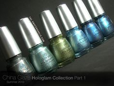 China Glaze Hologlam Collection: Swatches and Review Part 1 (I love holos...I'll be snatching a few of these up!!)