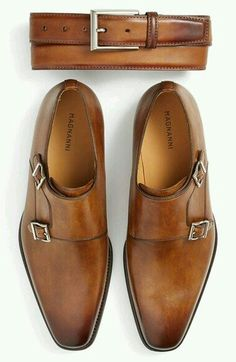 Double monk straps shoes