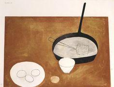 William Scott Still Life, 1973; screen print