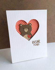 card critters bear heart SSS Simon Says Stamp picture book bear - Simon Says Stamp Picture Book Love Bear heart hearts Boy Cards, Kids Cards, Cute Cards, Karten Diy, Bear Card, Get Well Cards, Animal Cards, Simon Says, Card Sketches