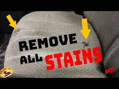 How To REMOVE HORRIBLE STAINS in CLOTH & CARPET... CAR or HOME - YouTube
