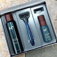 Get Dad ready for all occasions with this great Harry's shaving kit! Shave Gel, Cosmetic Packaging, Mens Gift Sets, Package Design, Shaving, Lotion, Skincare, Cosmetics, Kit