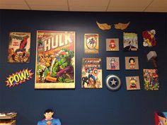 Parede de quadrinhos para quarto de menino - Casinha Arrumada