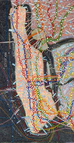 View NYC Transit by Paula Scher on artnet. Browse more artworks Paula Scher from Jim Kempner Fine Art. Paula Scher, Map Design, Graphic Design, Constellations, Subway Map, Nyc Subway, Map Globe, U Bahn, Art Brut