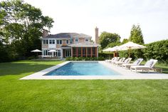 Even with a pool there is plenty of space in this Southampton backyard.
