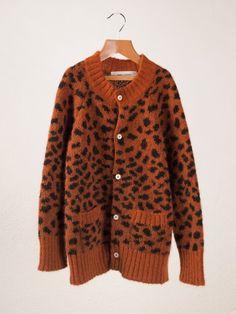 dear lord!!  Leopard Knit Cardigan