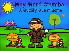 Our May Word Crumbs game is a great new brain game for your kiddos to practice looking for word chunks in vocabulary words. This game can be played alone, with a partner, or as a class. The kids have to look through all the words to find the answers for each card. We hope you will check out the rest of our Word of the Day products using these words. $