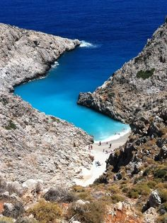 SEITAN LIMANIA A WELL-HIDDEN BEACH LOCATED AT THE EAST SIDE OF AKROTIRI, NEAR THE AIRPORT OF CHANIA ON CRETE ISLAND