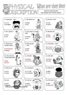 Describing People ESL Printable Worksheets and Exercises ...