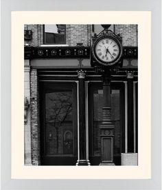 Clock Stand Framed Print, White, Contemporary, White, Cream, Single piece, 16 x 20 inches, White
