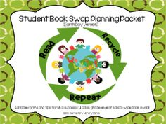 """I am a K-5 Library Media Specialist and have been running successful school-wide books swaps for several years now.  My students look forward to having our annual spring book swap as the school year begins to wind down and we start preparing for summer reading.  The """"Earth Day"""" theme is perfect if you want to demonstrate the importance of recycling as much as possible, including books!  Of course, you can have a book swap at any time of the year!  $"""