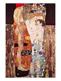 As Três Idades da Mulher  Impressão artística