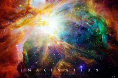"""Imagination"" Einstein quote Orion nebula astronomy poster"