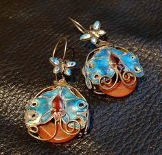 Exquisite Antique Enamel and Carnelian by ElegantArtifacts on Etsy, $265.00