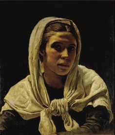 Frank Bramley - Portrait of a young breton woman