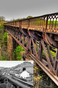 Millers Dale Bridge, now on The Monsal Trail a lovely cycle ride or walk traffic free in all directions Train Pictures, Old Pictures, Bridge Builder, Love Bridge, Cycle Ride, Peak District, Derbyshire, Walkways, The Other Side