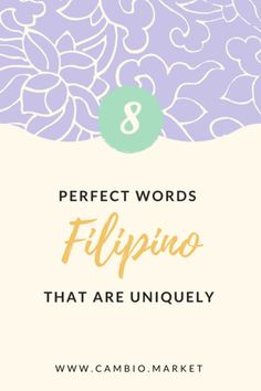 There are SO many Tagalog words that have no English equivalent, and many of them are just to express emotions. Here are 8 words that are uniquely Filipino Filipino Words, Filipino Quotes, Pinoy Quotes, Filipino Tattoos, Most Beautiful Words, Pretty Words, One Word Tattoos, Mini Tattoos, Philippines Tattoo