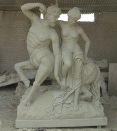 Hand Carved Centaur Statue, Greek Mythology