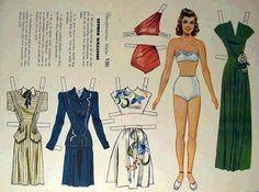 Poseidon's Underworld: Fun Finds: Swedish Paper Dolls Esther Williams
