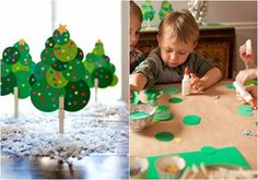 Well it's in Spanish, but I get the idea.really cute Christmas tree craft Christmas Tree Crafts, Kids Christmas, Handmade Christmas, Holiday Crafts, Holiday Fun, Christmas Decorations, Diy For Kids, Crafts For Kids, Christmas Activities For Kids