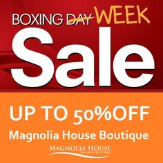 For 4 days ONLY our Magnolia House boutique is on sale with savings of up to Drop by today so you don't miss out! Sale Days are December 30 and Some exclusions apply. Boxing Day Sales, Magnolia House, Boutique Spa, Spa Day, Christmas And New Year, Gta, Hamilton, December, How To Apply