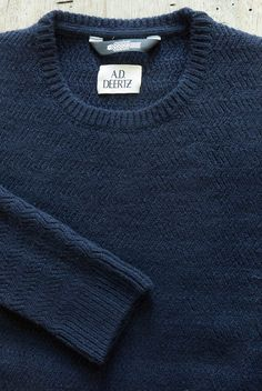 100% wool classic 'Willow' pullover from A.D.Deertz in Navy