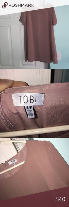NEVER WORN Tobi T-Shirt dress This is BRAND NEW NEVER WORN! Cute dressy t-shirt dress in a dark nude/ pink color 👗 Tobi Dresses
