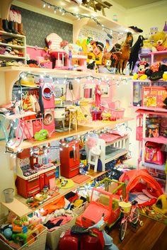 American Girl Doll House Made From Ikea Bookshelfs