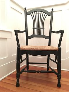 The KM Wheatback Captains Chair welcomes you with open arms.  Www.katemadison.com