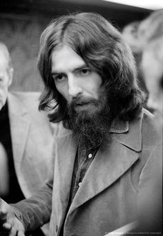 George Harrison at a Badfinger playback session, Apple Studios, London, 30th September 1971