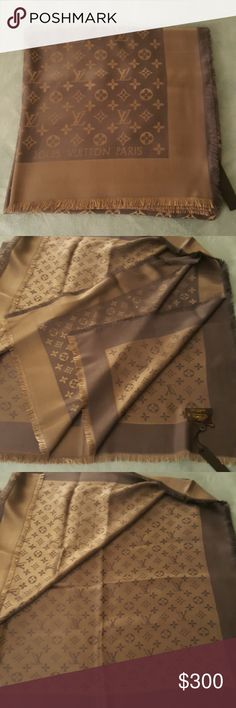 LV Monogram Scarf New. With tag. 140x140 cm. Cashmere and silk bland. Never used. Louis vuitton Accessories Scarves & Wraps