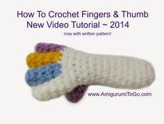 Amigurumi To Go: Video Crochet Doll Fingers Tutorial