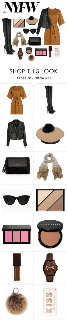"""""""Get it with me"""" by catalyaflower ❤ liked on Polyvore featuring MSGM, Paige Denim, Eugenia Kim, Karen Millen, Tilo, Quay, Elizabeth Arden, Bobbi Brown Cosmetics, Kevyn Aucoin and Armani Exchange"""
